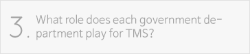 What role does each government department play for TMS?